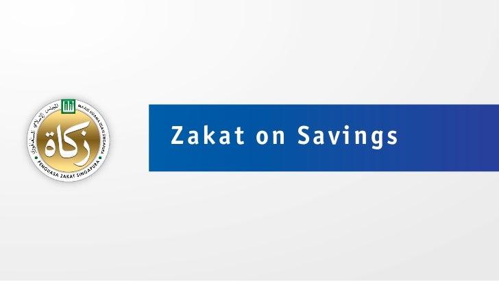 Zakat on Savings