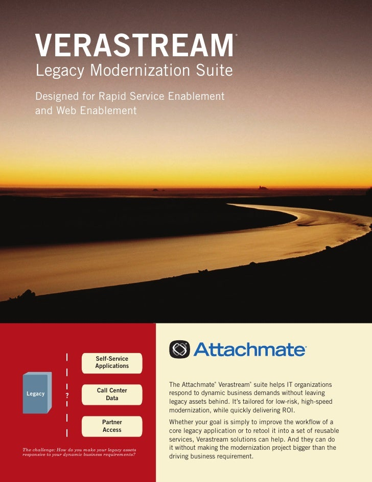 VERASTREAM                                                                            ®     Legacy Modernization Suite    ...