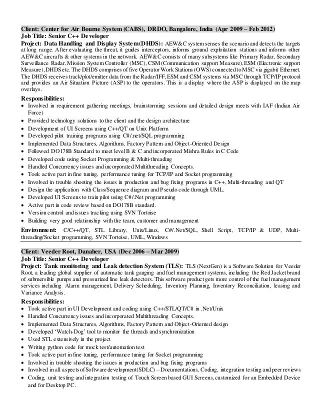 clearcase fixed income programmer resume