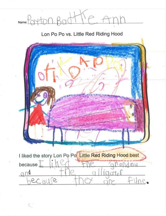 Name:   Lon P0 P0 vs.  Little Red Riding Hood       V  j—< . ——. _1-. - ,  *'