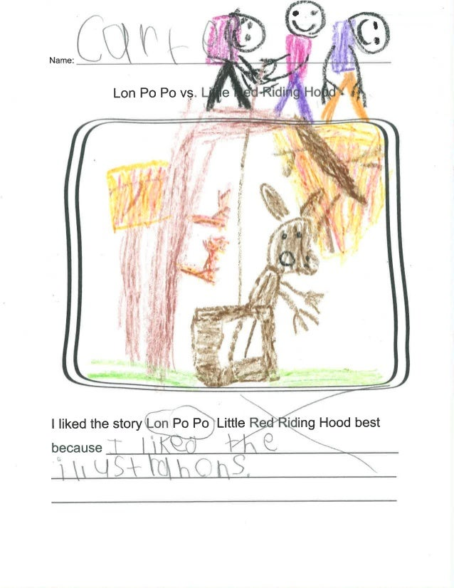"""I liked the story on P0 Po Little R 'ding Hood best because ~ .  x.  K""""  Q.  Q,          &lSiv c"""