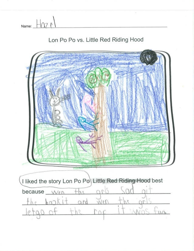 are E  Lon P0 P0 vs.  Little Red Riding Hood            I liked the story Lon Po P% Little Red Ridi'ng—Ho'od best