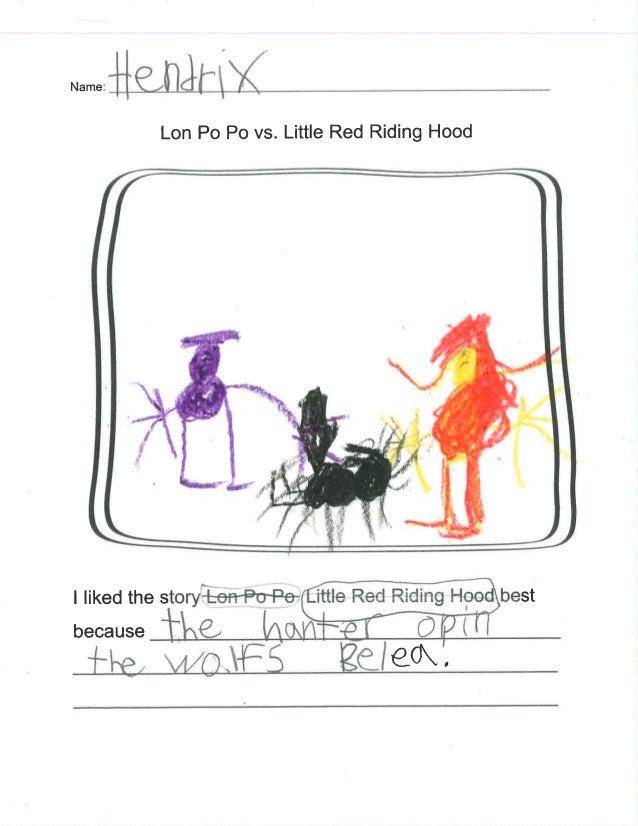 N. ... .;H€ll]<ltlX  Lon P0 P0 vs.  Little Red Riding Hood                 I liked the story-l: e'>l= l~Po~Pe ittle Red Ri...
