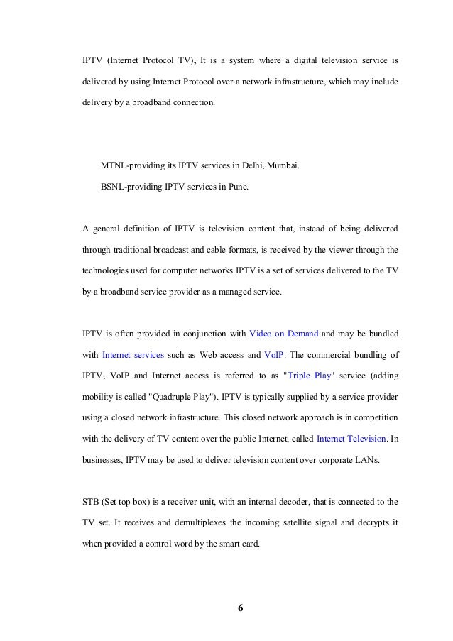 0601092 Marketing Research Of Set Top Boxes