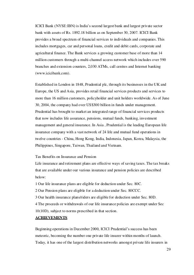 icici prudential multiple channel distribution essay (a) our initiatives in power sector we provide comprehensive fund/ non-fund based solutions to generating, transmission, and distribution companies in this sector within the government domain we offer customized cash management, freight payment and online bill collection services.