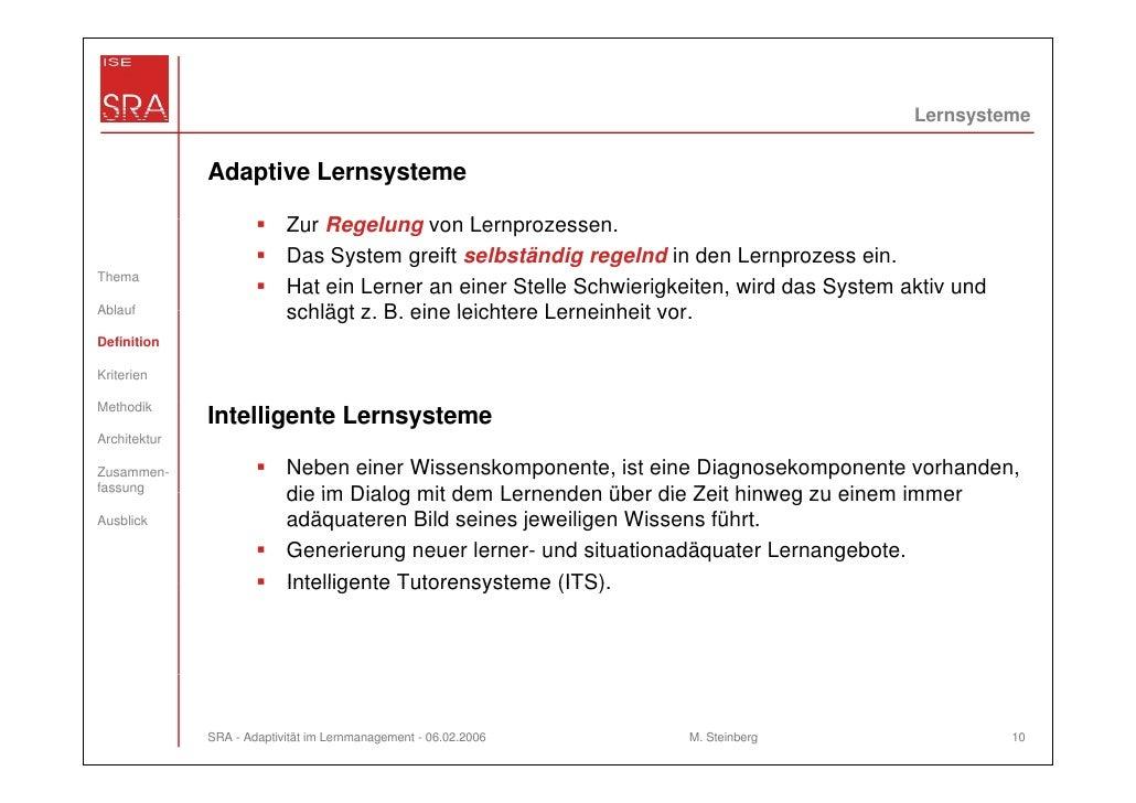 Lernsysteme              Adaptive Lernsysteme                           Zur Regelung von L                           Z R  ...