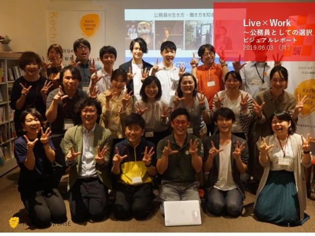 Kochi Startup BASE® ©2019 H-tus. Ltd. http://startup-base.jp/ Kochi Startup BASE Live×Work ~公務員としての選択 ビジュアルレポート 2019.06.03...