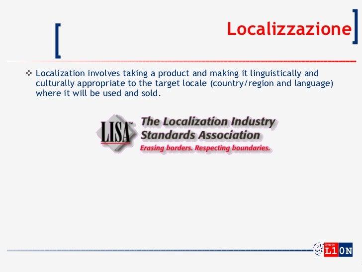 La localizzazione del software Slide 3