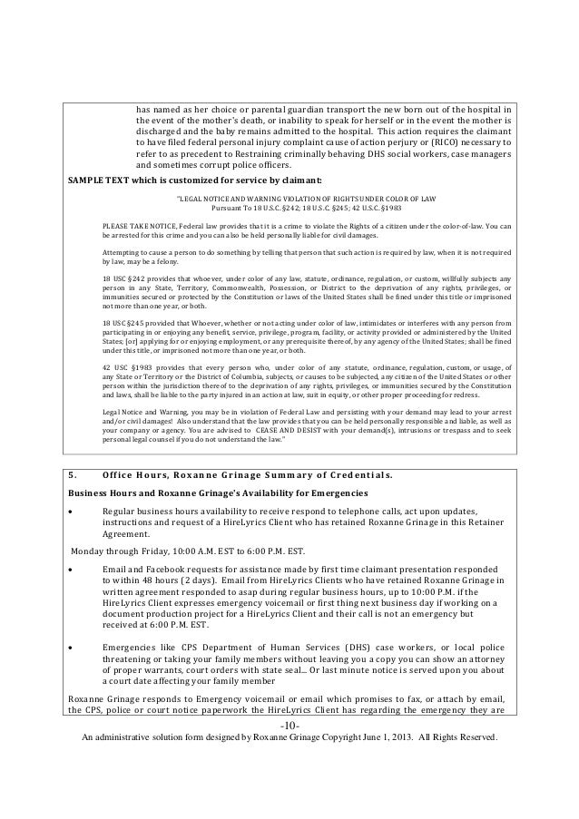 Employee Retainer Agreement Tikiritschule Pegasus