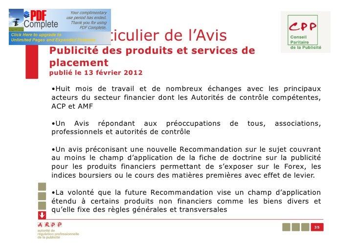 Cas particulier de l'AvisPublicité des produits et services deplacementpublié le 13 février 2012•Huit mois de travail et d...