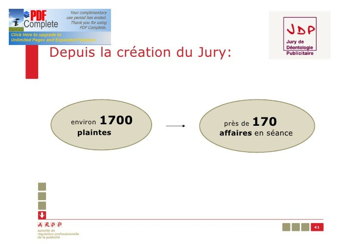 Depuis la création du Jury:   environ   1700         près de   170    plaintes             affaires en séance             ...