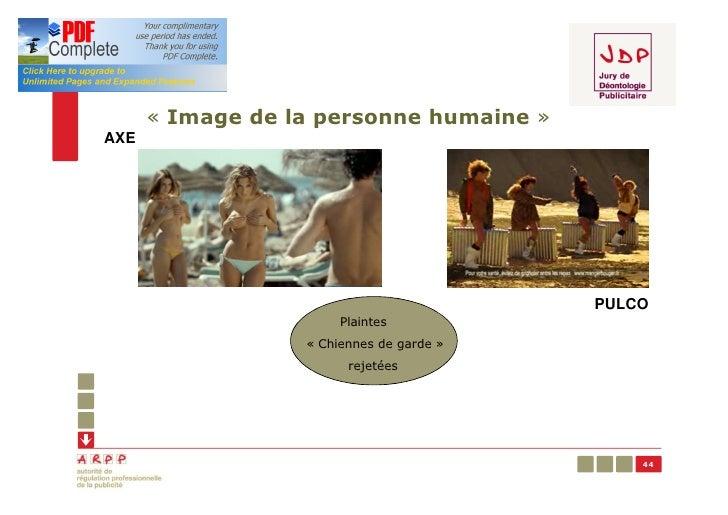 « Image de la personne humaine »AXE                                          PULCO                       Plaintes         ...
