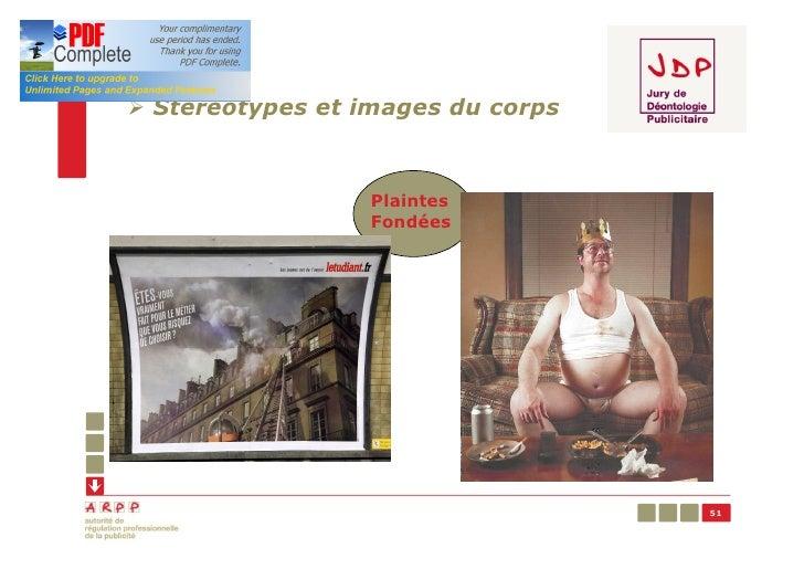 Ø Stéréotypes et images du corps                  Plaintes                  Fondées                                   51