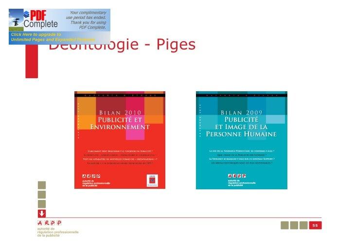 Déontologie - Piges                      55