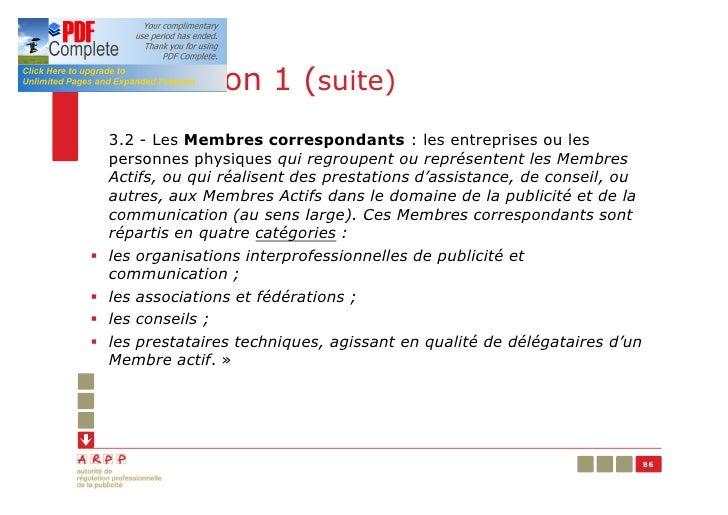 Résolution 1 (suite)    3.2 - Les Membres correspondants : les entreprises ou les    personnes physiques qui regroupent ou...