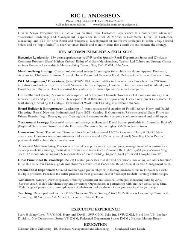 AndersonRic Skill Set Resume. RIC L. ANDERSON Phone: (214) 544 7350  Cell:  (  Skill Set Resume