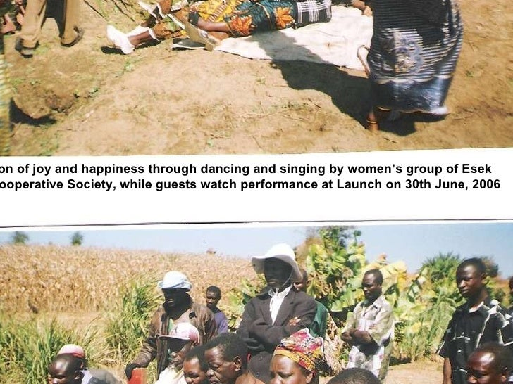Expression of joy and happiness through dancing and singing by women's group of Esek Farmers Cooperative Society, while gu...