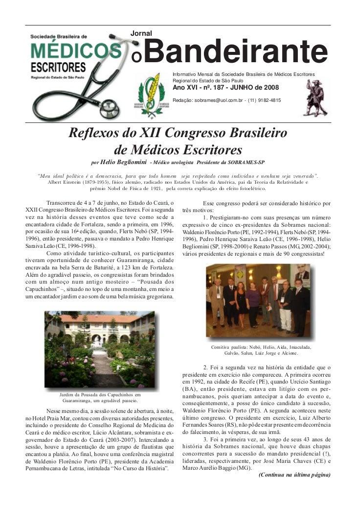 Jornal                                             O       BandeiranteInformativo Mensal da Sociedade Brasileira de Médico...