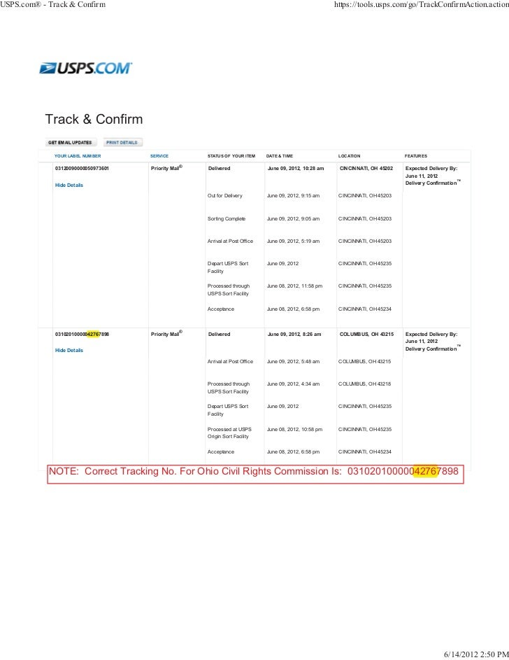 USPS.com® - Track & Confirm                                                                             https://tools.usps...