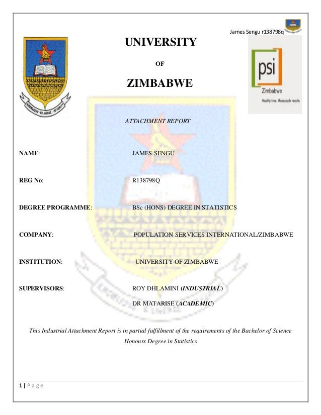 industrial attachment report submitted to moi university Attachment report is a record of activities undertaken by the student while on attachment it should, thus, provide the details of the institutions where students were attached, a description of activities undertaken by the students and lessons learnt during the attachment period.