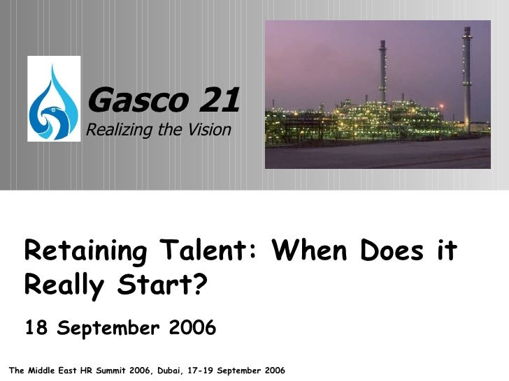 Retaining Talent: When Does it Really Start? 18 September 2006