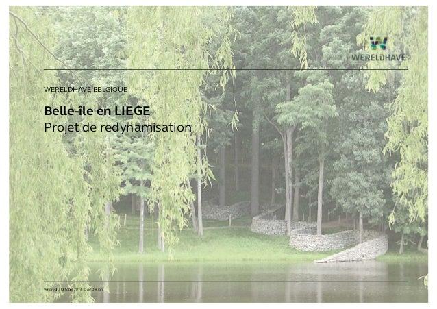 Belle-île en LIEGE Projet de redynamisation WERELDHAVE BELGIQUE Vendredi 3 Octobre 2014 © Air Design