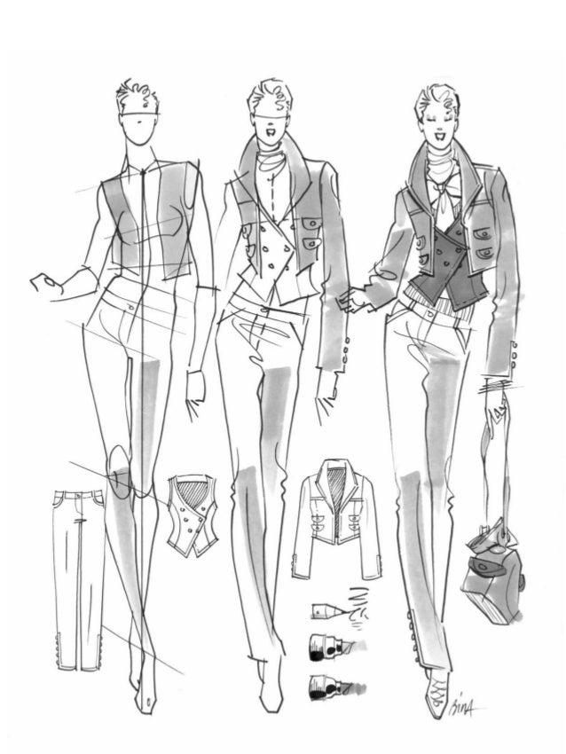 No Capítulo 1, você estudará todos os passos básicos do desenho da figura de moda, desde o con- ceito inicial, seguindo to...