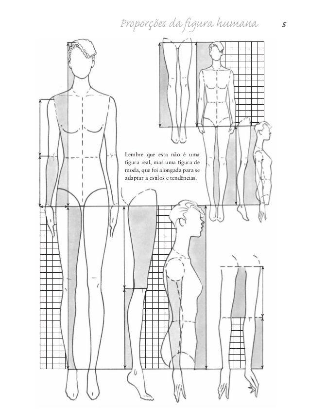 6 Desenho de Moda Linhas de orientação Como apresentado nestas figuras, há linhas de orientação específicas nas figuras de...