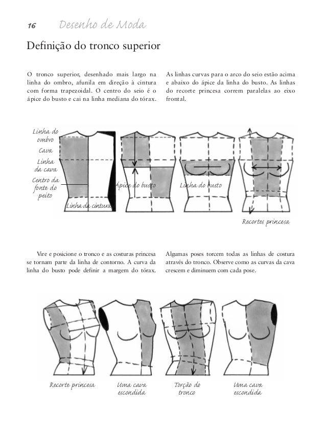 Proporções da figura humana 17 Definição do tronco inferior As curvas do tronco inferior têm continuidade diretamente nas ...