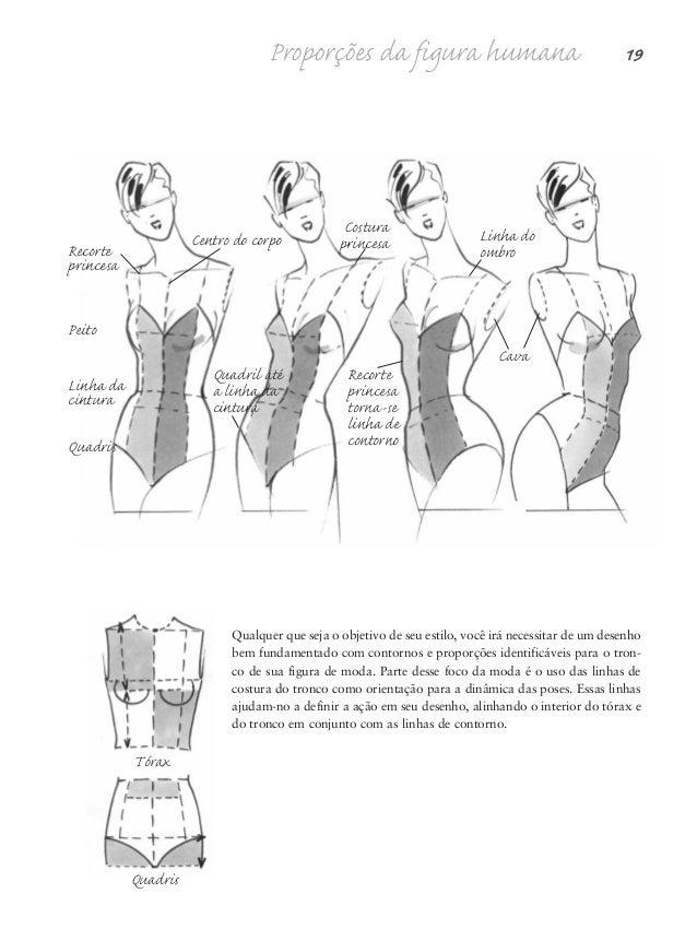 """20 Desenho de Moda Nas páginas anteriores sobre """"Definição do tronco"""", você analisou os movimentos do tron- co de um lado ..."""