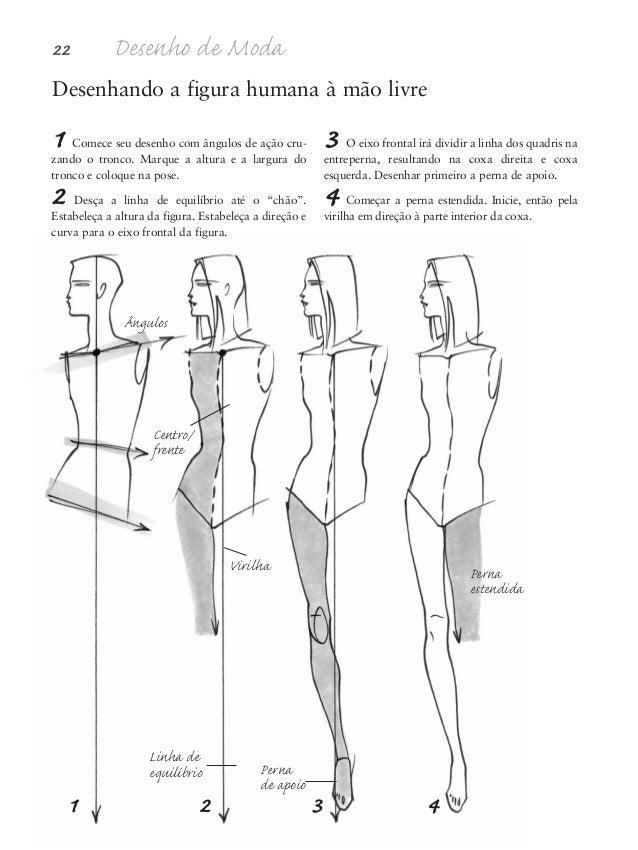 Proporções da figura humana 23 5 Termine o desenho da perna estendida. Coloque o pé mais abaixo do que o da perna de suste...