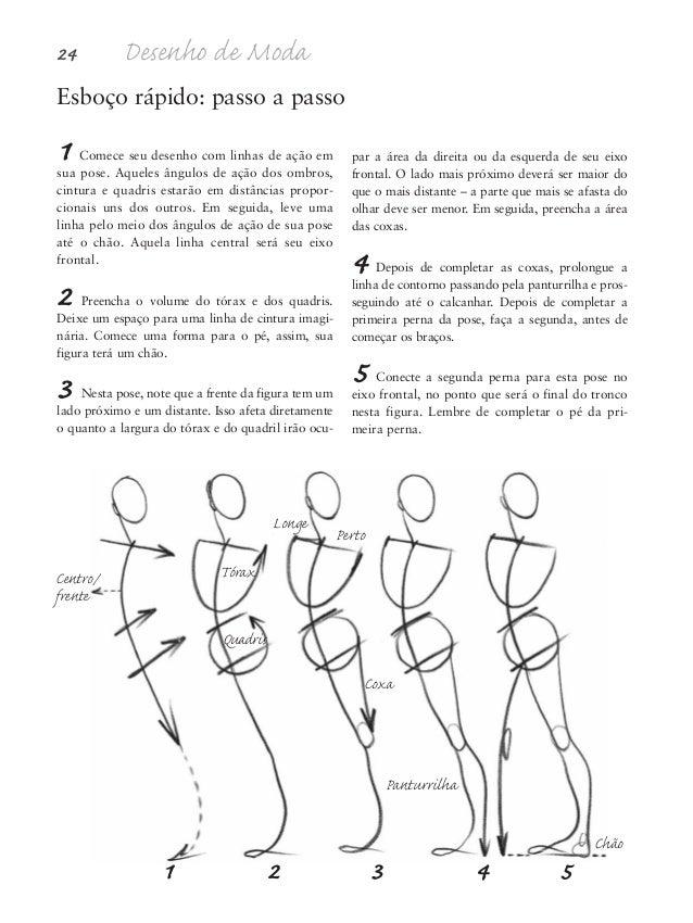 6 Quando desenhar a coxa da segunda perna, coloque-a sobre, ou por cima ou à frente da outra perna. Para fazê-lo menos con...