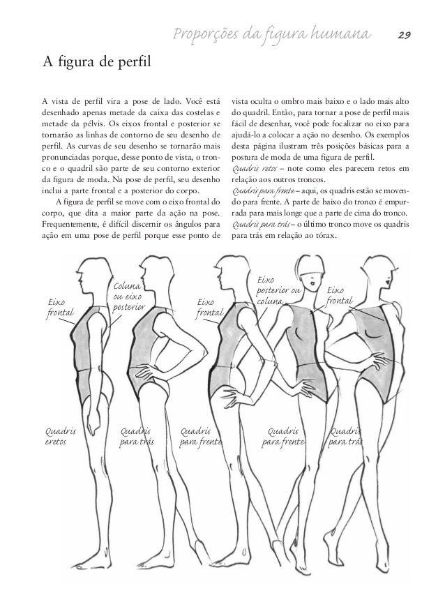 Desenhe um tronco em pose frontal com a linha de eixo vertical dividindo-o em duas partes. Essas duas partes cortam o tron...