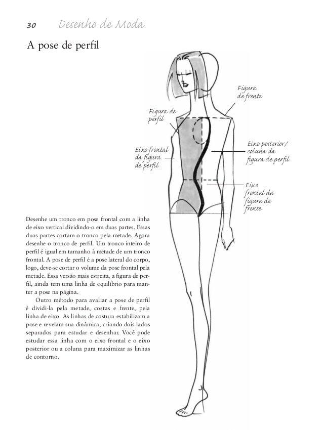 Proporções da figura humana 31 Ponta do pescoço Eixo frontal Linha de equilíbrio Eixo posterior Eixo posterior Depressão d...