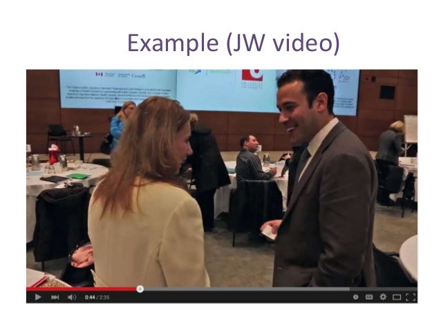 Example (JW video)