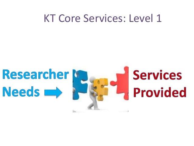 KT Core Services: Level 1