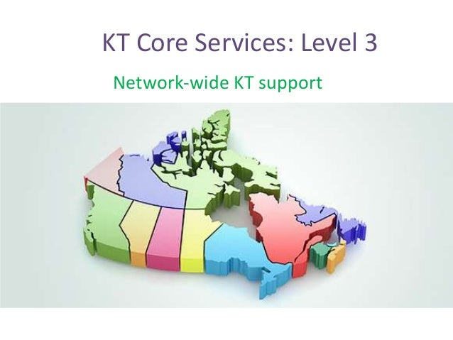 Network-wide KT support KT Core Services: Level 3