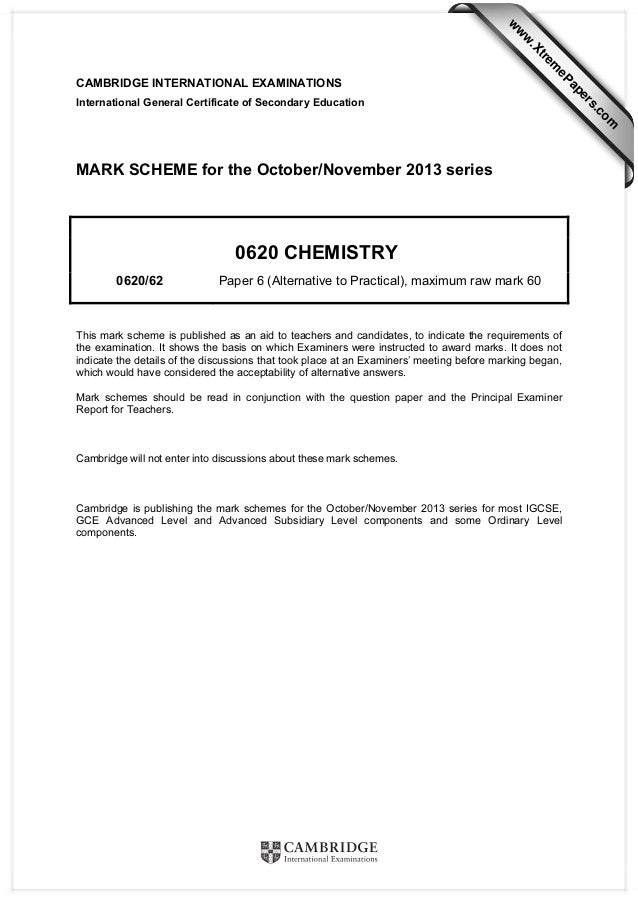 CAMBRIDGE INTERNATIONAL EXAMINATIONS International General Certificate of Secondary Education MARK SCHEME for the October/...