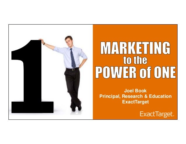 Joel BookPrincipal, Research & EducationExactTarget