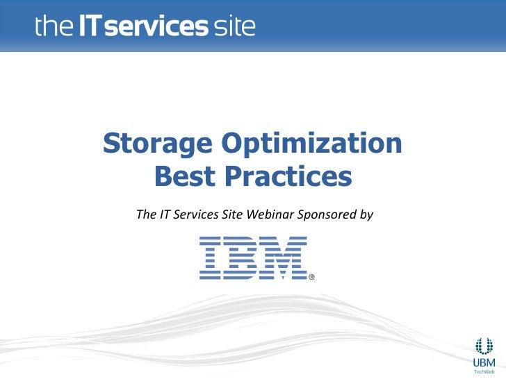 Storage Optimization Best Practices
