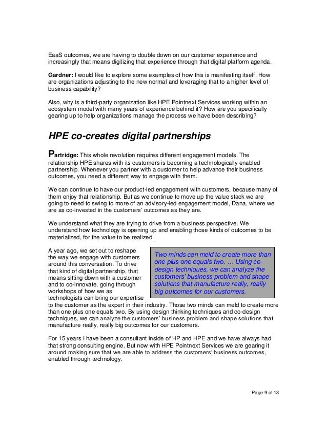 Page 9 of 13 EaaS outcomes, we are having to double down on our customer experience and increasingly that means digitizing...