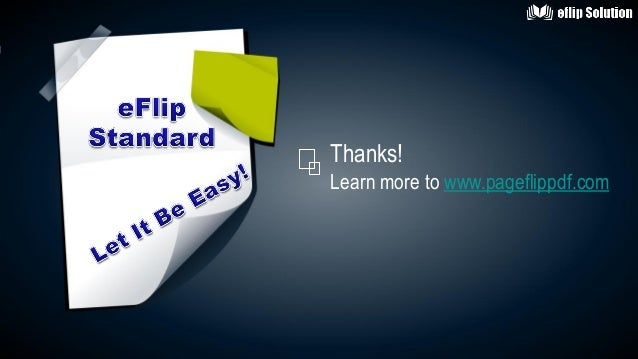 Guideline for making simple style digital publishing book with eFlip Standard