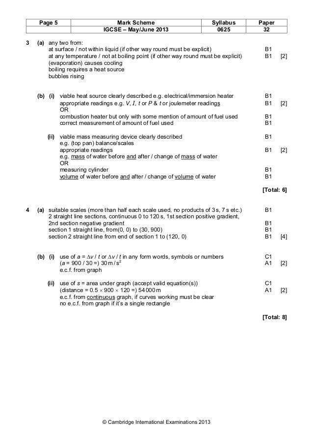Physics 0625 - Paper 3 version 2 - Mark scheme - May Jun 2013