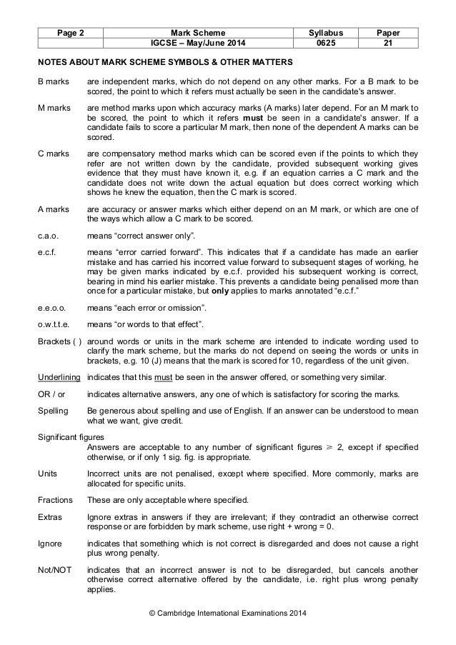 Ig-cambridge physics o. L mark scheme varient 3.