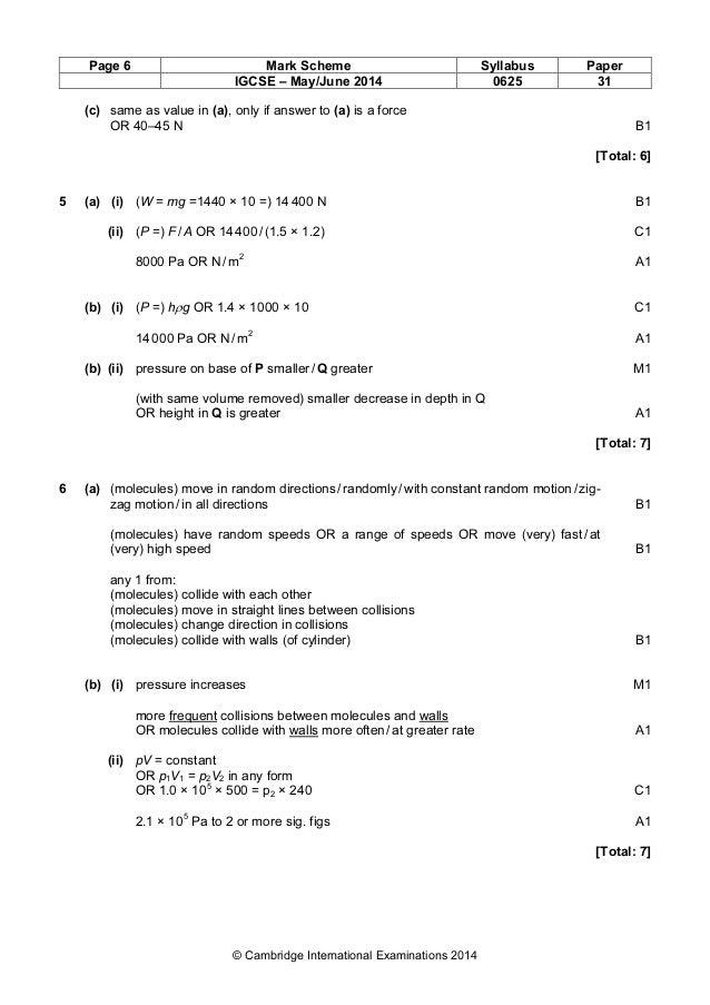 physics 0625 paper 3 version 1 mark scheme may jun 2014 rh slideshare net Glencoe Algebra 1 2014 Glencoe Algebra 1 2014