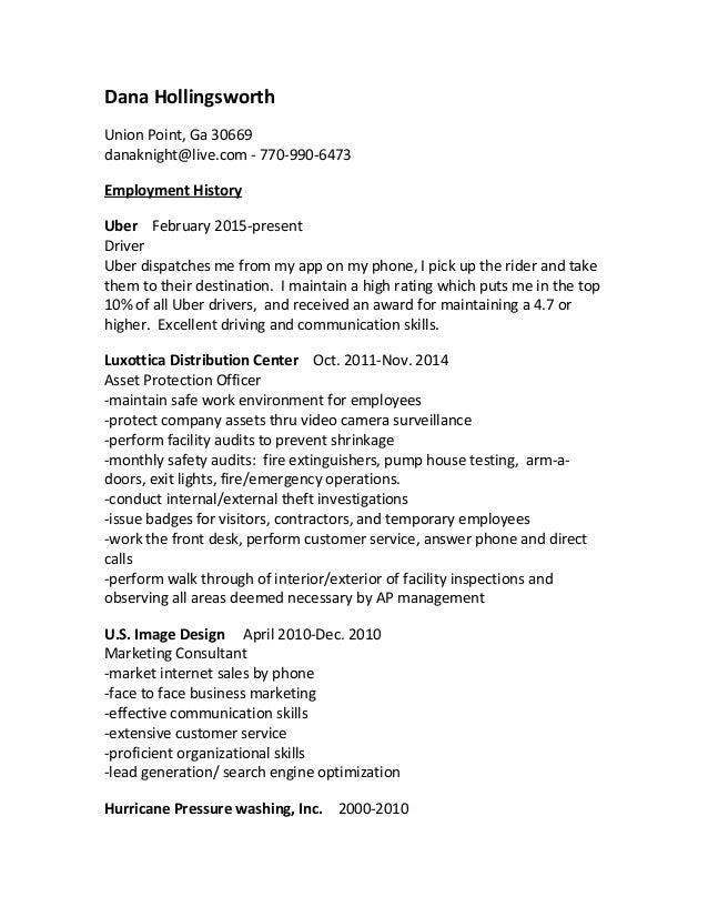 2016 resume from wordpad