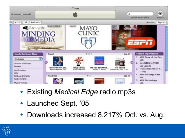Mayo Clinic Medical Edge Sample Sound Bite