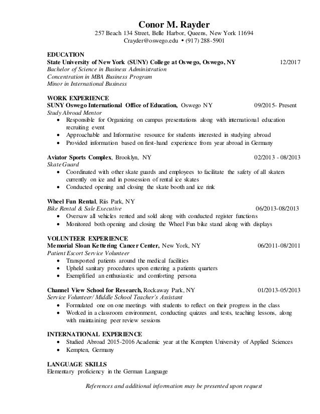 Comfortable Resume Center Of Queens New York Gallery - Example ...