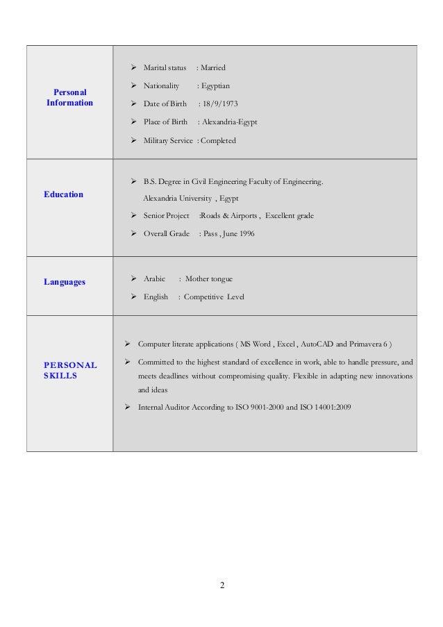 C V - Slide 2