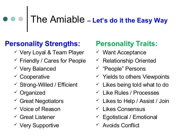 Egotistical personality traits